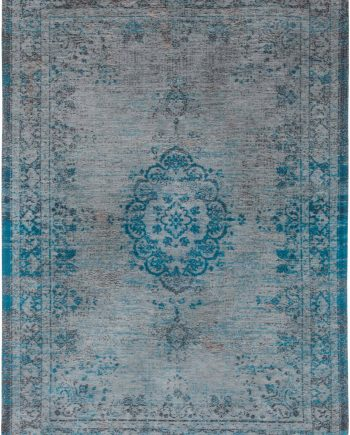tapis Louis De Poortere LX8255 Fading World Medaillon Grey Turquoise